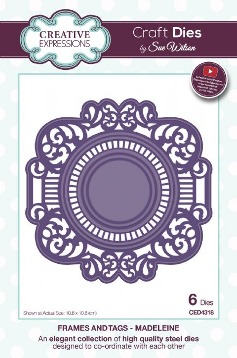 FRAMES & TAGS COLLECTION - Madeleine CED4318 by Sue Wilson